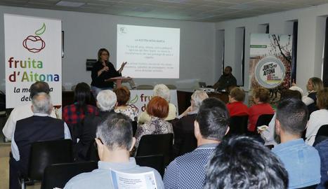 Imatge de la presentació de la campanya Fruita d'Aitona.