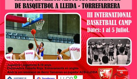 Torrefarrera acollirà un any més l'International Basketball Camp