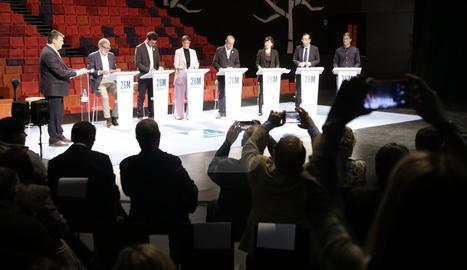 Debat entre els aspirants a l'alcaldia de Lleida