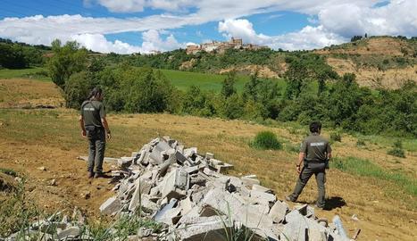 Imatge de la runa trobada pels Agents Rurals a Gavet de la Conca.