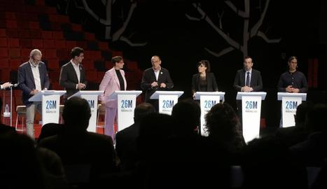 Els candidats a l'alcaldia de Lleida, al debat de Lleida TV.