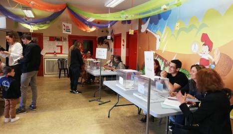 Col·legis electorals a la demarcació de Lleida pels comicis municipals i europeus.