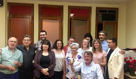 La celebració de la candidatura de Romero al conèixer el resultat.
