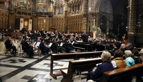 Noranta músics van oferir un concert inèdit a Montserrat.