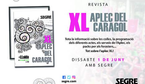 Aquest dissabte, amb SEGRE, revista Aplec del Caragol!