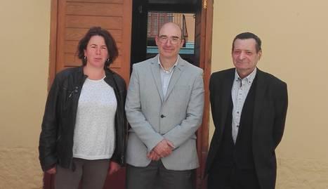 Escoll, Troguet i el candidat del PP, que no va obtenir regidors.