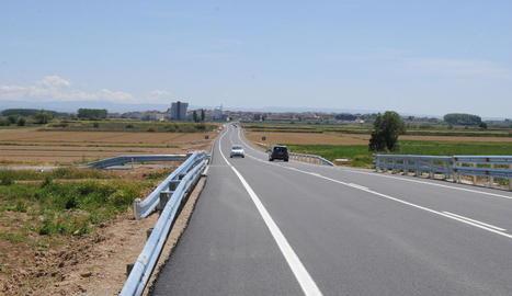 El tram de la carretera que ha estat reformat.