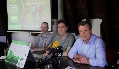 Presentació dels Festivals de Senderisme dels Pirineus, ahir.