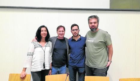 Presentació de 'Homeless, el musical social', ahir.