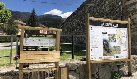 Els plafons informatius del municipis de Vilaller.
