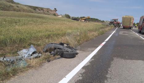 L'accident ha tingut lloc a l'altura del punt quilomètric 22 de la C-451.