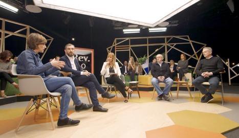 Raquel Sans, Ignacio Escolar, Xantal Llavina i Jaume Roures.