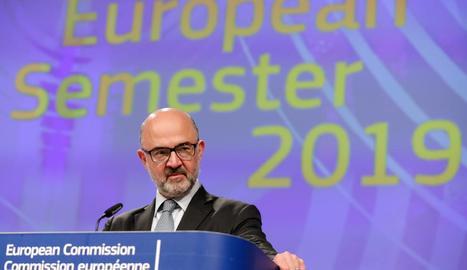 El comissari europeu d'Assumptes Econòmics, Pierre Moscovici.