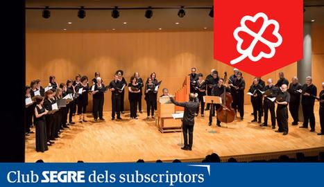 El Cor de Cambra de l'Auditori Enric Granados en una de les seves actuacions.