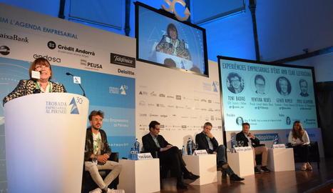 La taula d'empresaris d'èxit va reunir Toni Badias, Ventura Rebés, Gener Romeu i Emili Alzamora.
