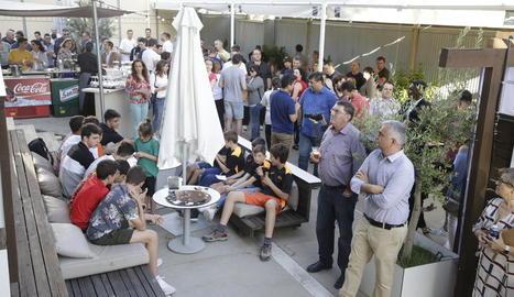 Un moment de la festa de clausura de la temporada que va celebrar ahir el Força Lleida.