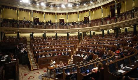 Els diputats, als escons durant la sessió constitutiva del Congrés, el passat 21 de maig.