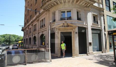 Espai on obrirà la nova botiga, a la plaça Sant Joan de Lleida