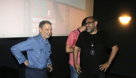 José Luis Alcaine (esquerra), ahir durant la classe magistral que va oferir a Screenbox Funatic.