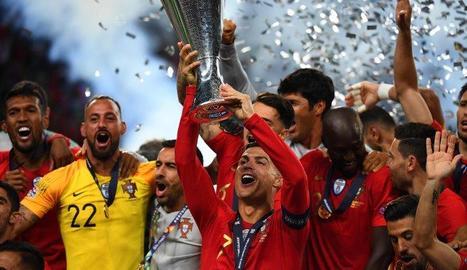 Portugal celebrant el seu títol.