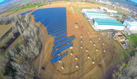 Imatge d'arxiu de les obres de la central solar de Talarn.