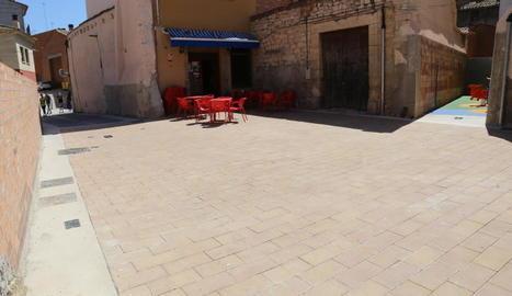 El carrer Horno, al centre urbà de Saidí.
