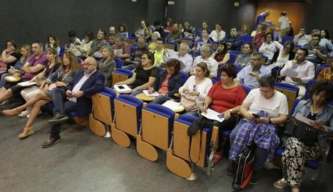Un moment de la jornada celebrada ahir per UGT a Lleida.