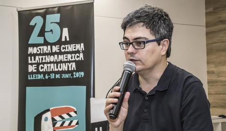 El director Ramon Térmens, ahir en una activitat de la Mostra al centre Ilerna de Lleida.