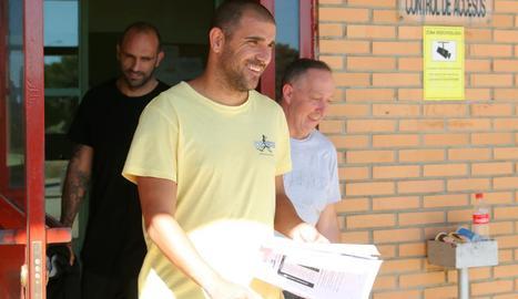 Carlos Aranda abandona la presó de Zuera el passat 31 de maig.