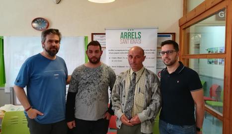 Presentació de les memòries del 2018 d'Arrels Sant Ignasi, ahir al centre obert de l'entitat.
