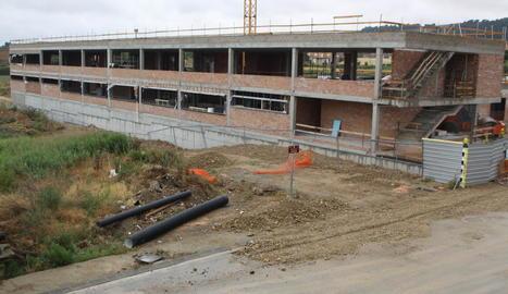 Les obres de la nova escola de Primària d'Almenar que els veïns esperen des de l'any 2004.