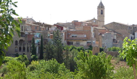Vista panoràmica de Cervià de les Garrigues.