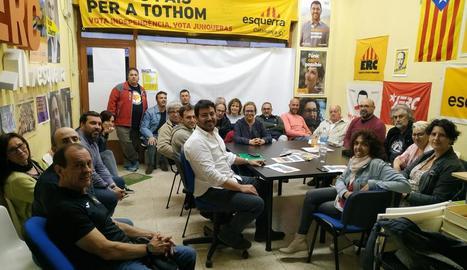 Imatge de l'assemblea local i comarcal que va celebrar ERC de la Seu dimarts a la nit.