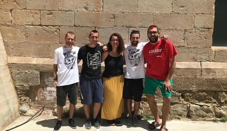 Membres de Cal Cactus i de La Llavor, que aposten per un model de masoveria urbana.