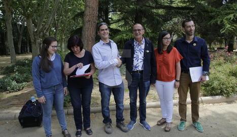 ERC i el Comú de Lleida han presentat avui als Camps Elisis l'acord d'investidura.