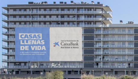 CaixaBank finança un de cada quatre habitatges a l'Estat.