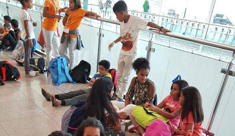 Dinou infants sahrauís passaran l'estiu amb famílies acollidores lleidatanes