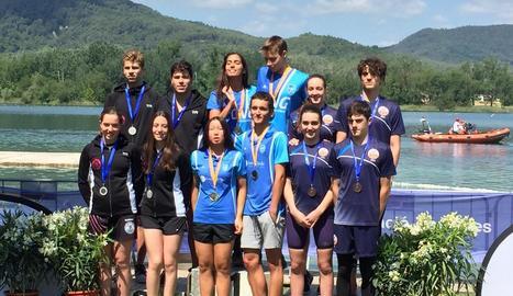 El CN Cervera, medalla de plata al Campionat de Catalunya.