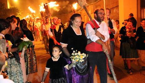 Vuit dones van participar en el descens de la Pobla de Segur.