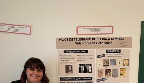 Carla Vadillo, seleccionada per un treball sobre Celia Viñas.