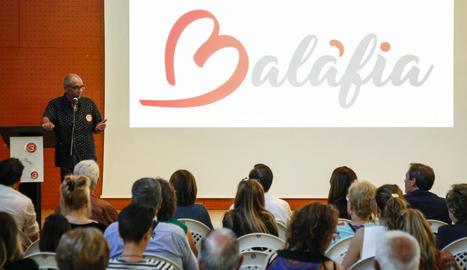 La presentació ahir de la nova marca de Balàfia.