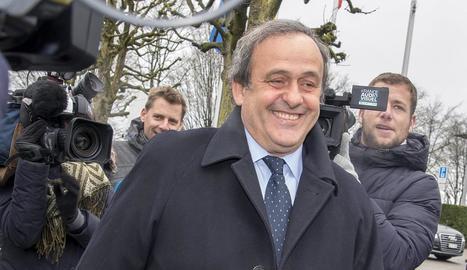 Michel Platini, en foto d'arxiu, està acusat de corrupció.