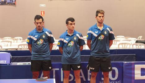 Marc Duran, Joan Masip i Oriol Monzó, jugadors del Borges Vall.
