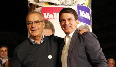 Imatge d'arxiu de la campanya electoral de Celestino Corbacho i Manuel Valls.