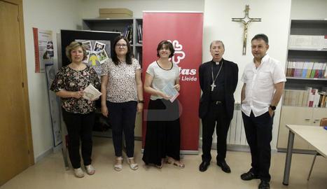 L'acte de presentació de la memòria 2018 de Càritas a Lleida.