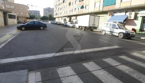 Imatge d'arxiu del carrer Rius Besòs de Lleid.