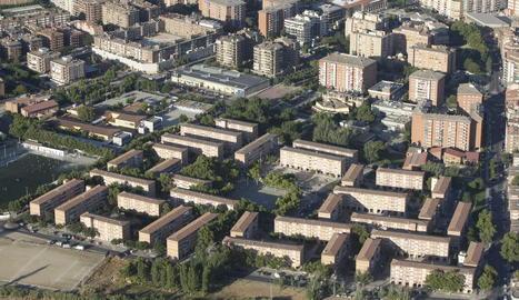 Imatge aèria del barri de la Mariola.