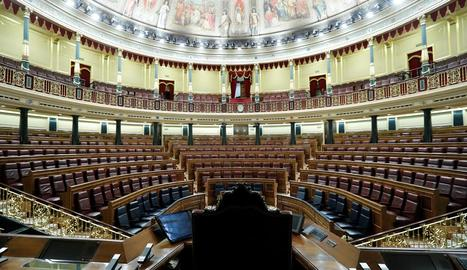 Imatge d'arxiu de la cambra del Congrés dels Diputats.