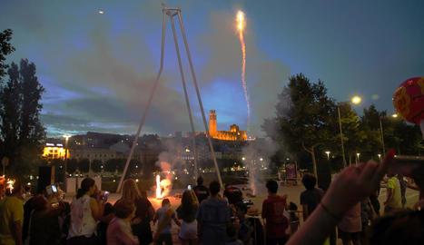 Òscar Mirón va retratar molts focs com aquests d'ahir a Cappont.