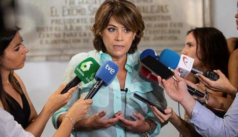 La ministra de Justícia, Dolores Delgado, ahir.